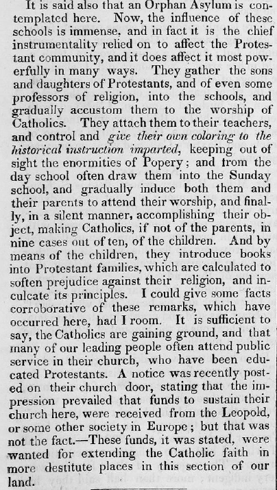 American Protestant in Defence of Civil & Religious Liberty Against Inroads of Papacy. February 21, 1844. Page: 138